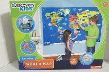 Discovery Kids Activity World Map 76 pieces ( New - Read)