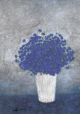 Postkarte: Heide Dahl - Kornblumen in weißer Vase
