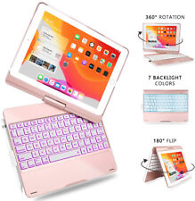 iPad 10.2 7th Gen 2019/10.5/Air 3 Bluetooth Keyboard Case w/ 7 Backlit Colors