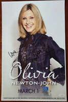 Olivia Newton John JSA Coa Signed Concert Poster Photo VonBraun Autograph
