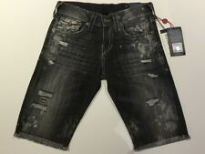 TRUE RELIGION MEN RICKY SHORT WITH FLAP SE CVTM DEEP BASE MC087VQ0 NWT 36W $229