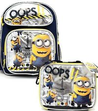 DESPICABLE ME 2 MINION OOPS BACKPACK & MATCHING OOPS LUNCHBOX LUNCH BAG-NEW!