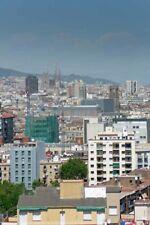 Barcelona Skyline Cityscape Catalonia Spain Photograph Picture Print