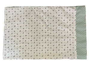Laura Ashley Standard Pillowcase Cotton Purple Floral Green Polka Dot