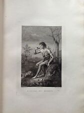 F.Rosaspina S Giovanni in the Desert Academy Fine Arts Etching 1830 Bologna