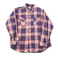 Mens 2XLT Flannel Shirt Vintage Plaid Long Sleeve Prentiss Outdoors Made USA