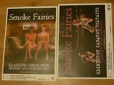 Smoke Fairies Scottish tour concert gig posters x 2