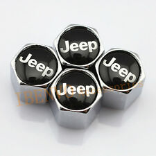 Silver Chrome Metal Car Wheel Tyre Tire Valve Stem Dust Cap Accessories For Jeep
