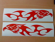 LARGE tribal hawk eagle flames vinyl graphics car side sticker speed boat van vw