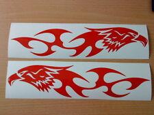 LARGE tribal hawk eagle flames vinyl graphics car side sticker speed boat van vw