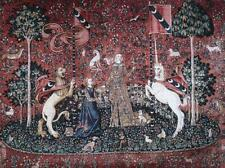 """The Lady & Unicorn Medieval Fine Art Tapestry Wall Hanging - Taste, 34""""x47"""""""