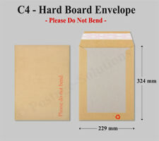 C4 Size Hard Board Backed Envelopes Quality A4 letters Certificates photos Cheap