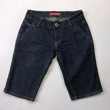 Womens Guess Blue Denim Bermuda Shorts Sz 24 B61