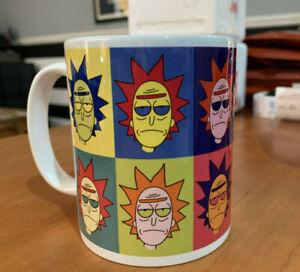 Rick and Morty Andy Warhol Inspired Mug - Rick Sanchez Pop Art homage Coffee Cup