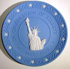 Celebration of Liberty Wedgwood Made in England Decorative Plate White & Blue UK