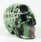 """2.0"""" Ruby Zoisite Carved Crystal Skull, Realistic, Crystal Healing"""