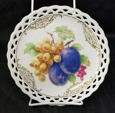 """Winterling Bavaria Germany Salad Plates Set of 4 Reticulated Grapes Plums 7.5"""""""