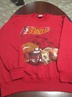 Vintage Florida State Seminoles Football Nutmeg Crewneck Mens Sweatshirt XL USA