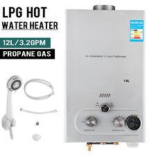 12L Warmwasserspeicher Gas Durchlauferhitzer Propangas Warmwasserbereiter