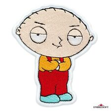 Family Guy Stewie Griffin Cartoon Comics Character Embroidered Patch Iron On