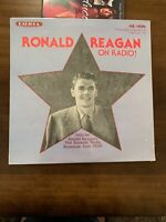 SEALED!! Ronald Reagan on Radio! LP Radiola MR-1118