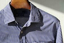 Polo Ralph Lauren XL Navy Blue Check 'Curham Sport' Cotton LS Shirt - $125.00