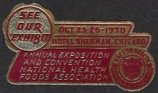 Usa Poster stamp: 1938 Ann. Expo & Convention National Health Foods Assoc -dw427