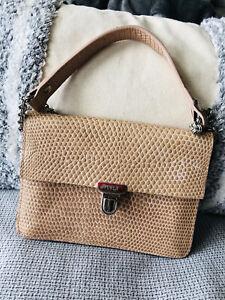 Vintage Furla Handbag Pale Pink Beautiful Condition