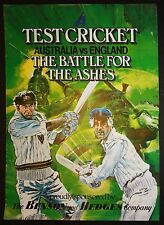 Benson and Hedges Battle For The Ashes Cricket Poster