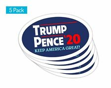 5 Pack *Oval Car Magnet* Trump 2020 Trump Pence 20 TO447
