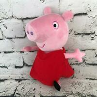 Peppa Pig Hug N Oink Plush Pink Red Dress Talking Electronic Stuffed Animal Toy