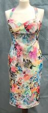 Ladies Floral Strap Bodycon Dress Size 14 Wedding Ocassion