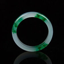 Certified 100% Natural Green flower  Jade Bangle Bracelet  Handmade 56-62mm
