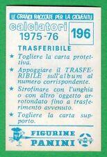 TRASFERIBILE CALCIATORI PANINI 1975/76 - NUOVO/NEW N.196 STEMMA - NAPOLI