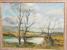 Contemporary oil painting landscape Yorkshire, signed