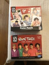 1D One Direction, Lot Of 2, Girl Talk The BOARD GAME & 304 Piece Puzzle,  Used