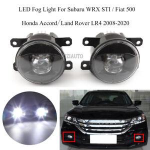 LED Fog Lights Lamp For Subaru WRX STI Fiat Honda Accord Land Rover LR4 08-2020