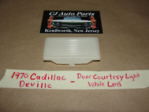 OEM 70 Cadillac Deville DOOR COURTESY LIGHT WHITE LENS