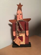 """Primitive Wooden Angel """"Home Is Where I Want To Be�"""