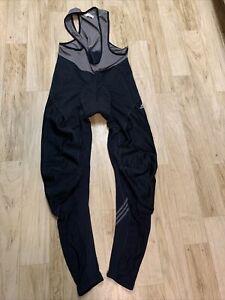 Vintage ADIDAS Climaproof Bib Sports Cycling Men Size Large Black/Gray