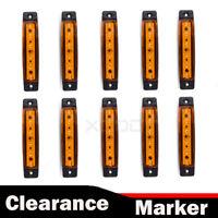 10pcs 12V LED Side Marker Light Front Indicator Amber Lorry Truck Parts Trailer