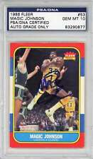 Magic Johnson Signed Autographed 1986 Fleer Basketball Card PSA/DNA 10 Auto
