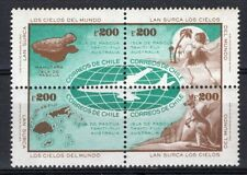 CHILE 1974 STAMP # 851/4 MNH FIRST FLIGHT TAHITI, FIJI, AUSTRALIA