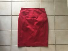 EXPRESS Corset style High Waist RED Knee Length Stretch Pencil Straight SKIRT 0