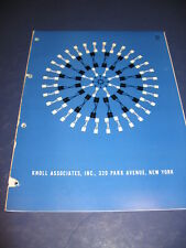 1965 Knoll Associates Furniture Vintage Planning Office Seating Chairs