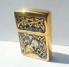 Ragnar. Viking warrior. Norse mythology. gold-plated gift lighter. A gift to a V