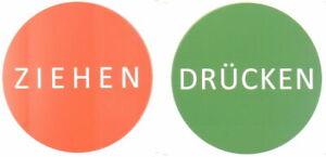 """Tür Aufkleber Warnschild Tür Schild Sticker """"Drücken'' und ''Ziehen'' 8cm Rund 1"""
