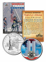 WORLD TRADE CENTER * 7th Anniversary * 9/11 New York State Quarter U.S. Coin WTC