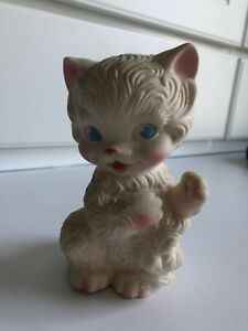 "Vintage 1958 Edward Mobley~Kitten Squeak Toy~5"" Tall~Arrow Rubber & Plastic Co."
