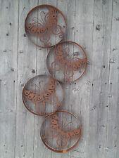 Wandbild Schmetterling Dekoration Metall Garten Wohnen Terrasse Rost Bild Deko